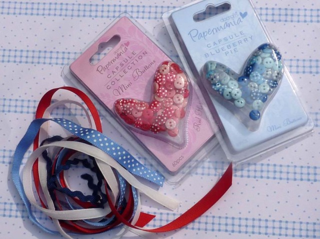 buttons and ribbons